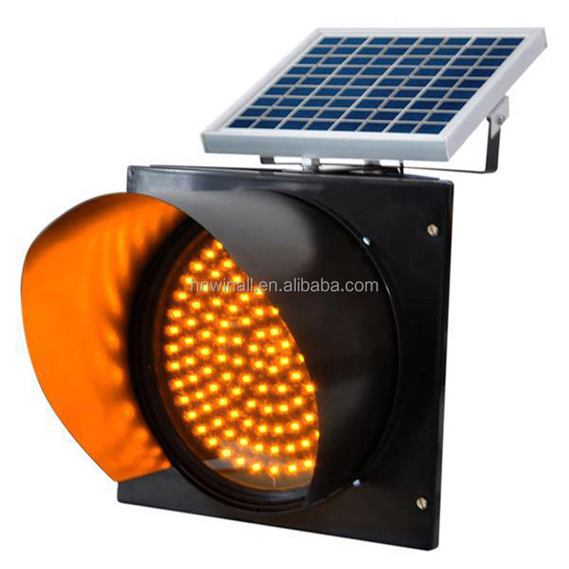 Hot Selling Solar Traffic Light, Battery Powered Flashing Yellow light, Flashing Safety Road Light