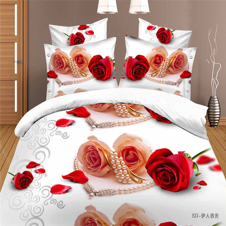 wholesale new 3d bed cover/3d printed cotton bed linen/brand 3d bedding set