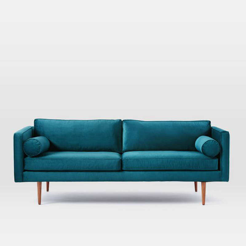New Design Blue Fabric Sectional Sofa for Living Room Furniture