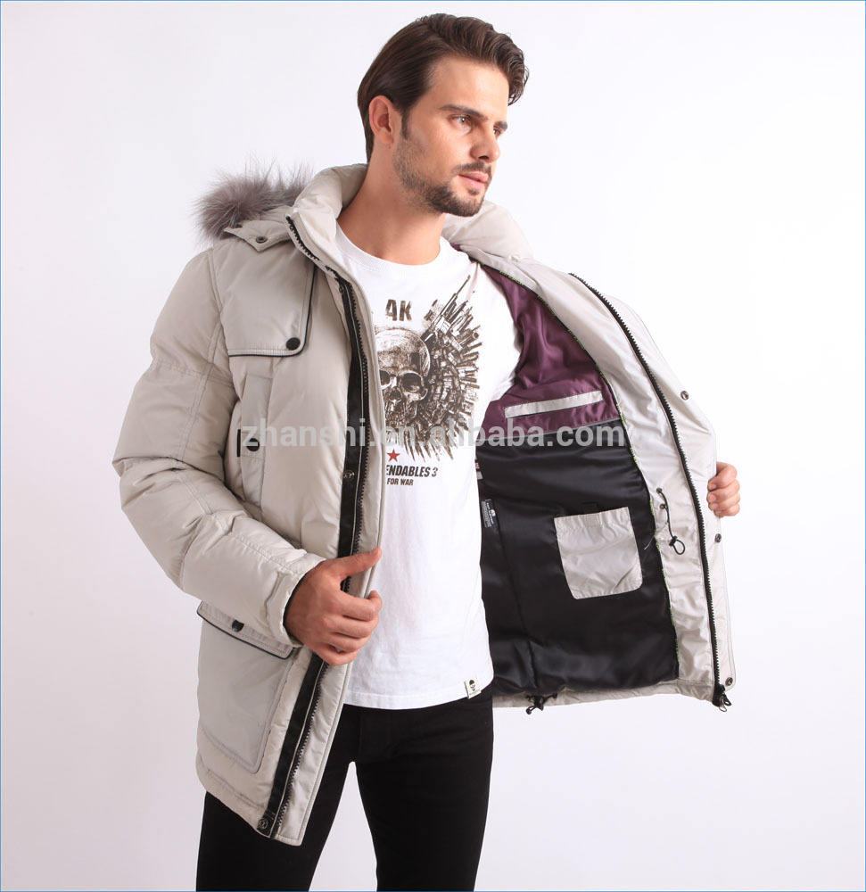 Canada style gooes filling fur parka mens down Jackets