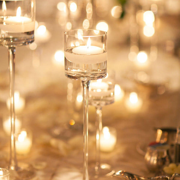 wedding tall glass candle holder