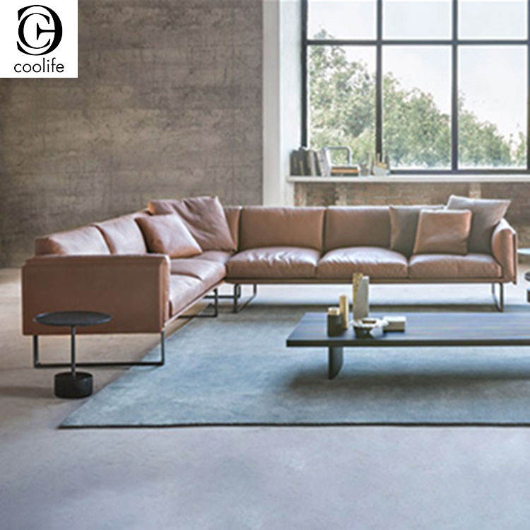 Natuzzi Living Room Luxury Sectional Sofas L Shaped Leather Corner Modern