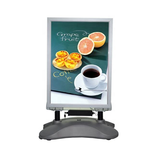 Hot sales A1 Outdoor windmaster advertising led water-based banner stands poster board stand