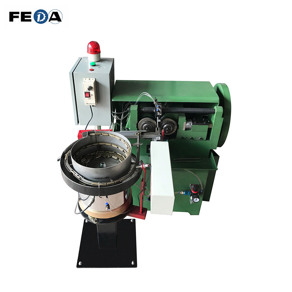 FEDA automatic nut bolt making machine thread rolling machine price india bolt and nut malaysia