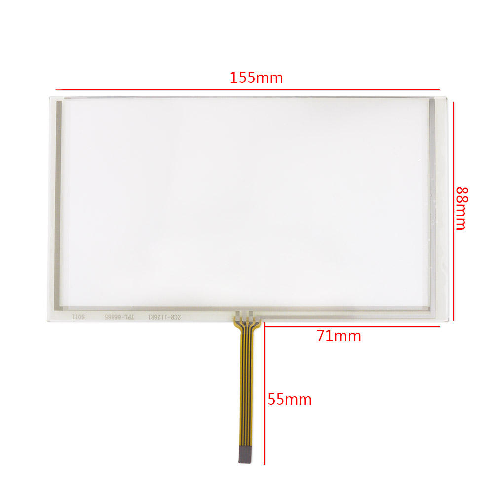 6.2 Inch Touch Screen Panel 155*88 Resistive Transparent Glass Touch