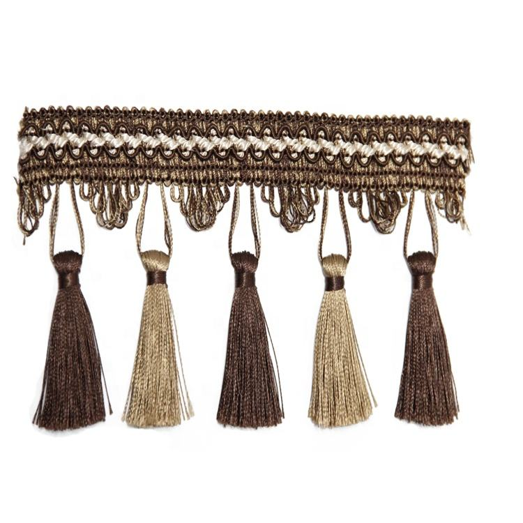 9cm Width Bullion Tassel Curtain Fringe Curtain Fringe Trimming