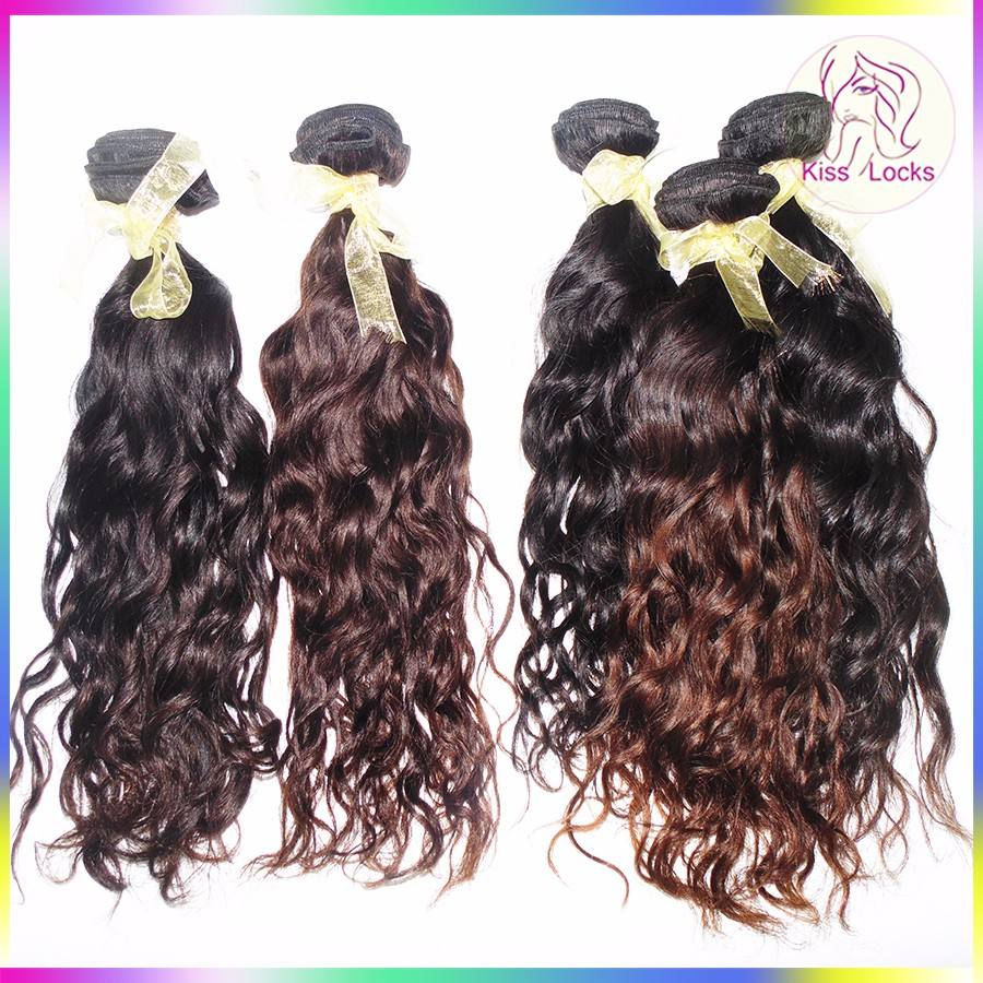 Machine Double Wefts 10A 100% Unprocessed Laotian Pure Human Virgin Full Cuticle Remy Hair Extensions Water Wave Free Delivery