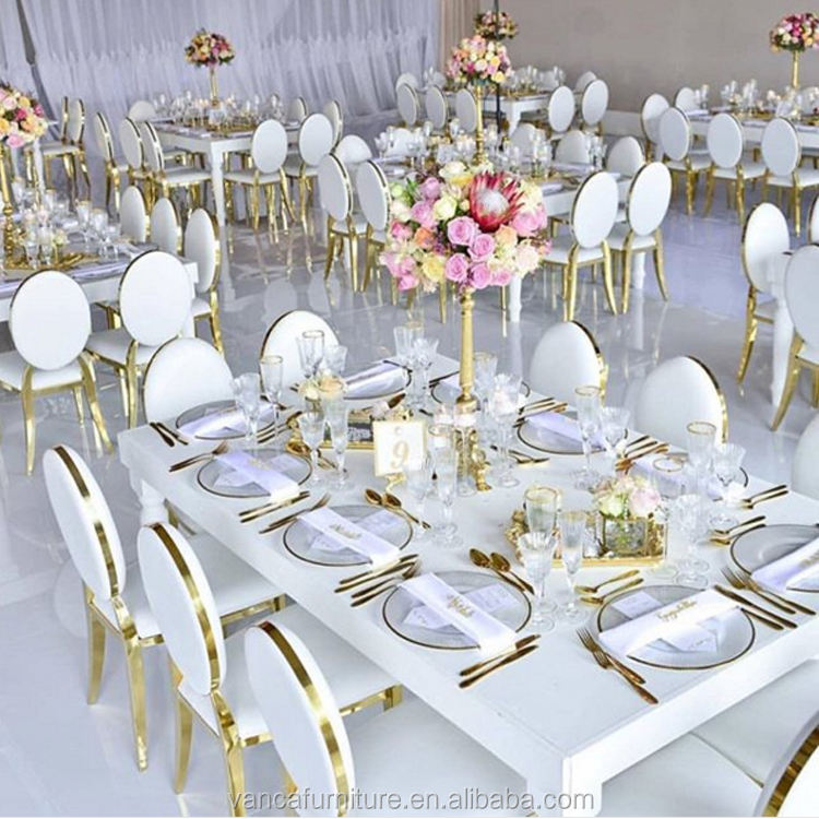 wedding and event chairs stainless steel gold wedding chairs for sale