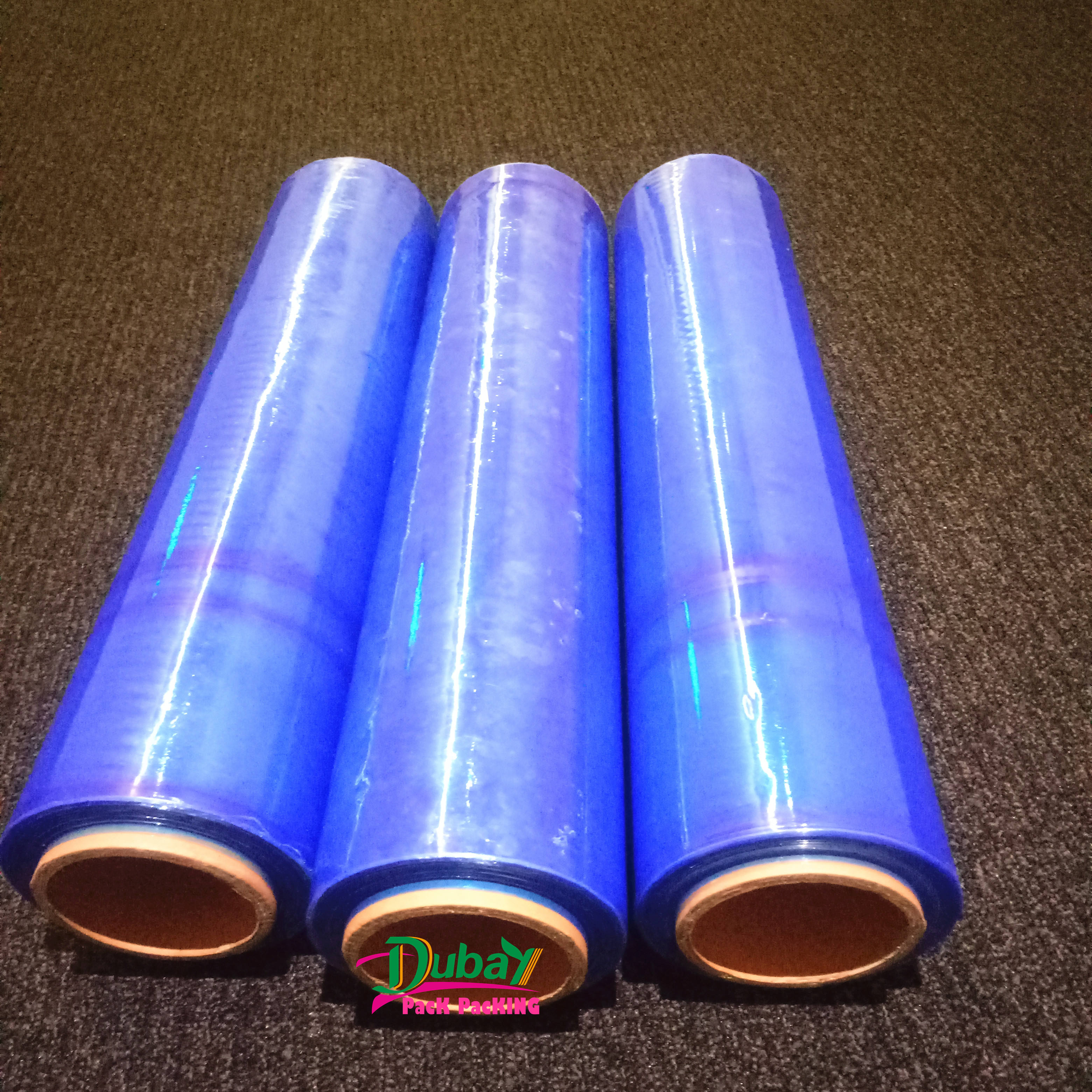 strong rolls blue pallet stretch wrap cast parcel packing film