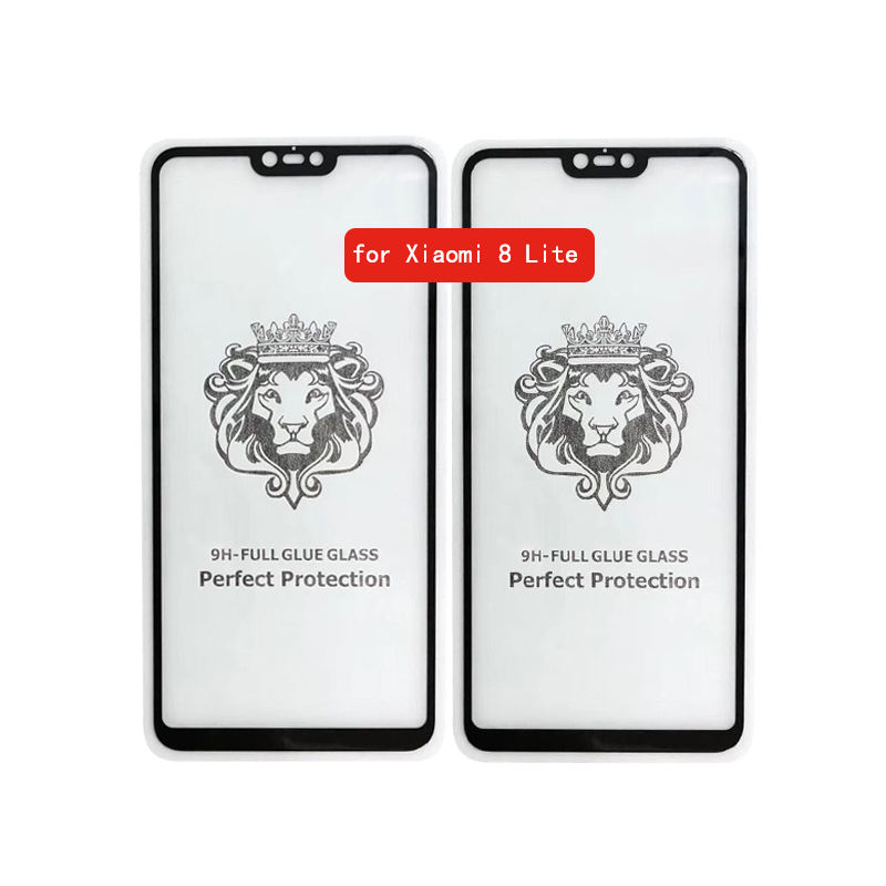 Tempered Glass Screen Protector for Xiaomi Mi <span class=keywords><strong>8</strong></span> Lite Full Cover Protective Glass