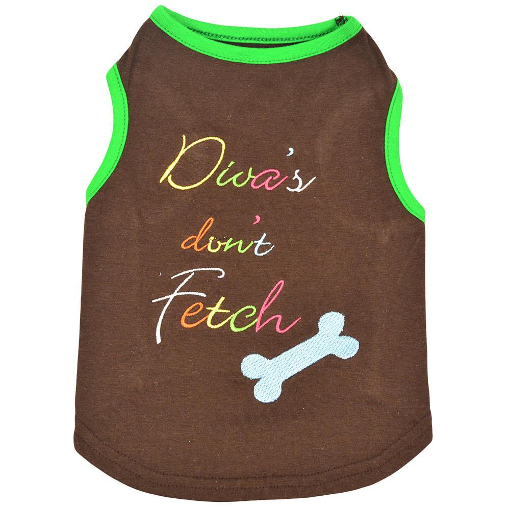 "18"" cotton oem pet t-shirt brown dog apparel"