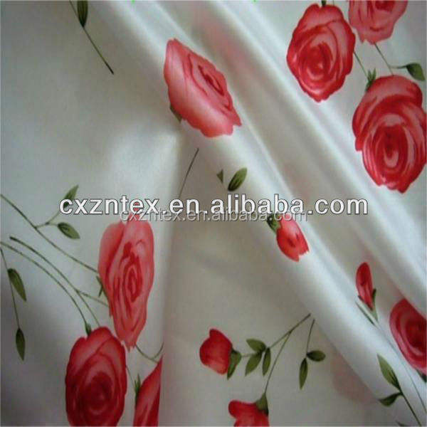 Wedding [ Printed Fabric ] Fabric Satin Floral Printed Satin Fabric/good Quality Satin Fabric 100%polyester Printed Satin