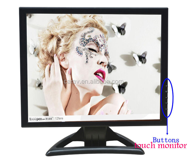 "15"" 1024x768 Resolution 4:3 Ratio resistive touch screen laptops monitor"
