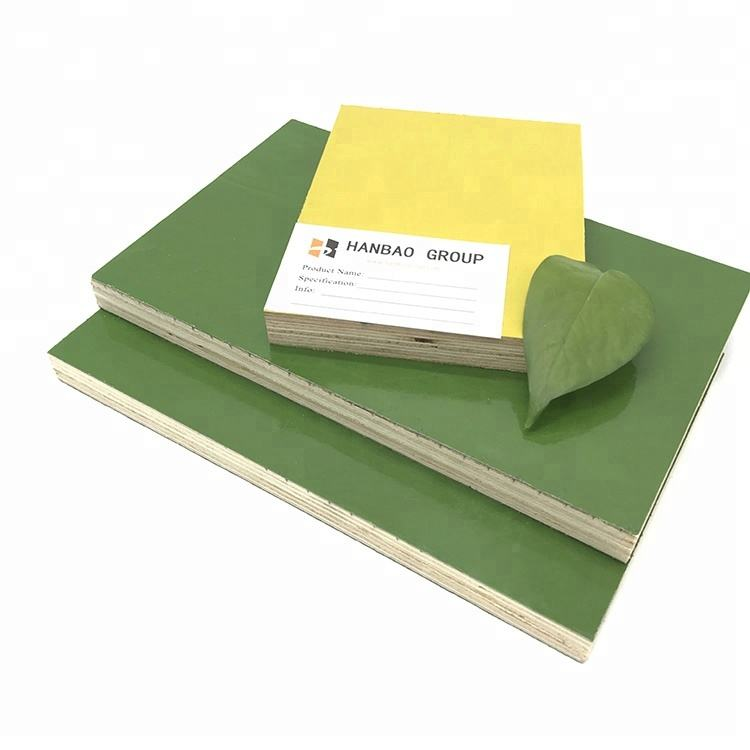 4x8 18mm high reused green pp plastic formwork film faced plywood for construction