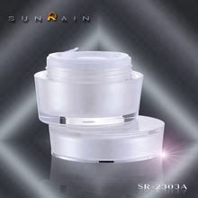 china yuyao sun-rain New design PMMA Cap Material and Skin Care Cream Use round cosmetic jars and bottles