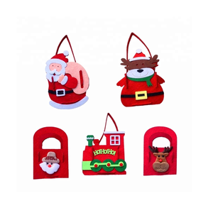 Santa reindeer little trains greeting Christmas snowman Christmas decorations for Christmas bags