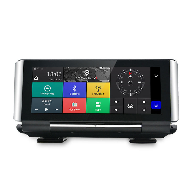6.86'' Full HD 1080P 4G GPS navigation Android 5.1 wifi bluetooth stand type car camera recorder