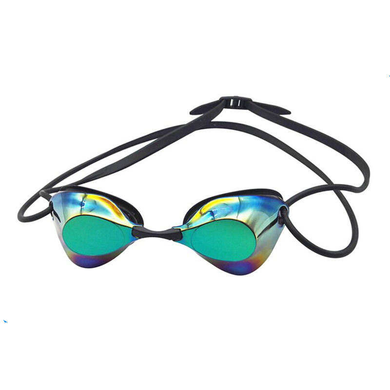 Newest 100% UV protect plating anti-fog waterproof swimming goggle