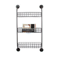 Home goods 3 tier models black metal ladder mesh wire grid pipe wrought iron storage flower hanging wall rack shelf for plant