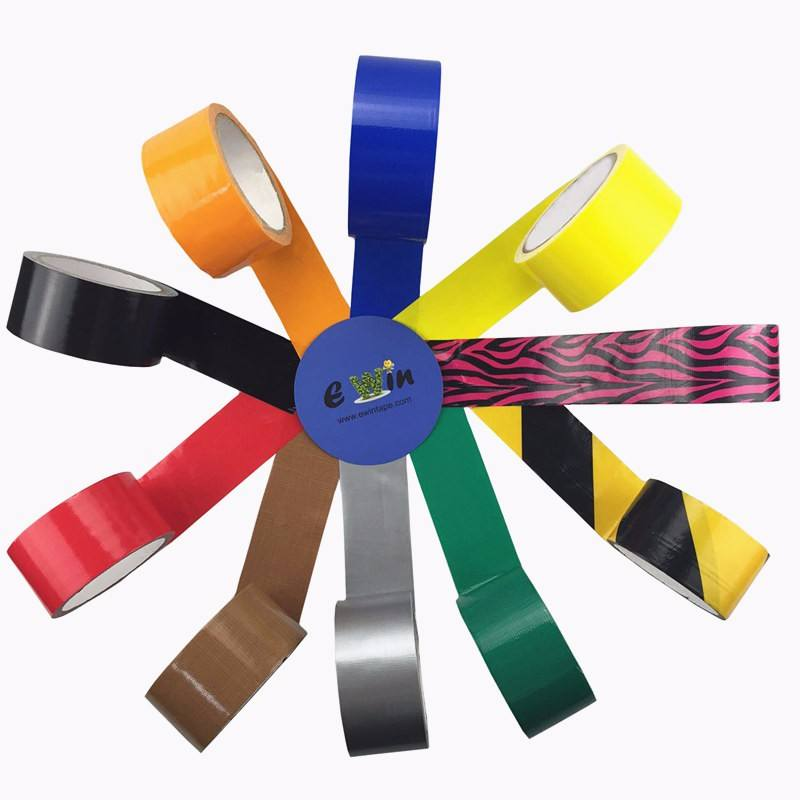 Free samples cheap heat resistant waterproof industrial pipe air conditioning logo custom print color cloth duct tape