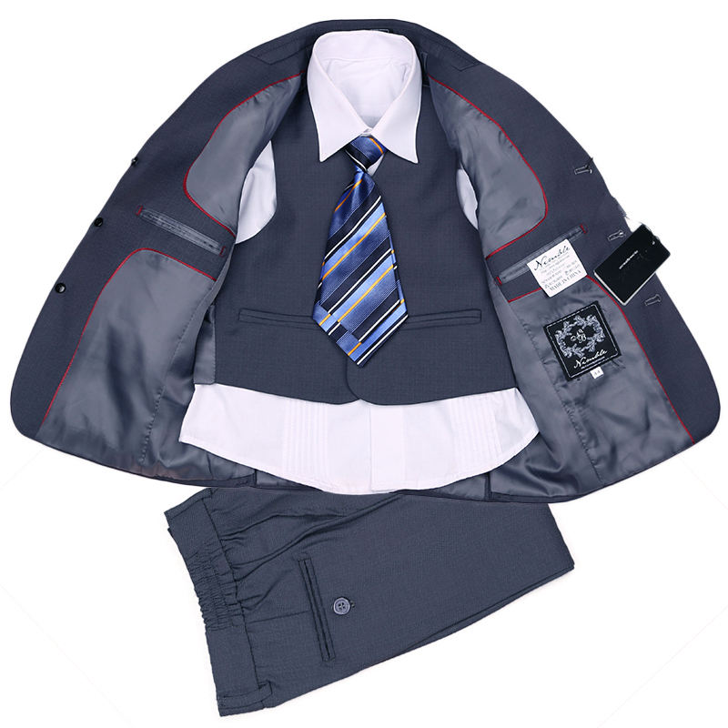 Free Shipping Fashion THREE-PIECES Children Boys Formal Suits BOXERS GREY New Year School Wear Boy Suit Jackets