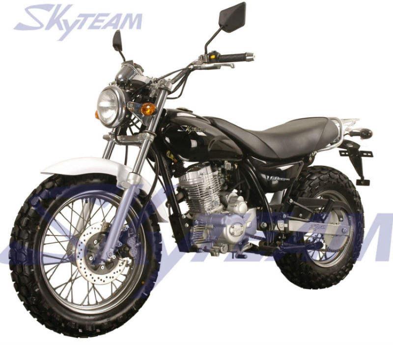 """Skyteam V-Raptor 125cc 4 tempos na motocicleta estrada (CEE Euro III EURO3 Aprovado 120/80-18 """"/ 180/80-14"""")"""