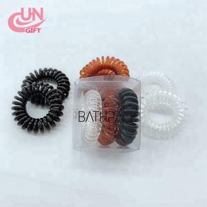 Custom logo Traceless Hair Ring Box Practical Elastic Hair ties