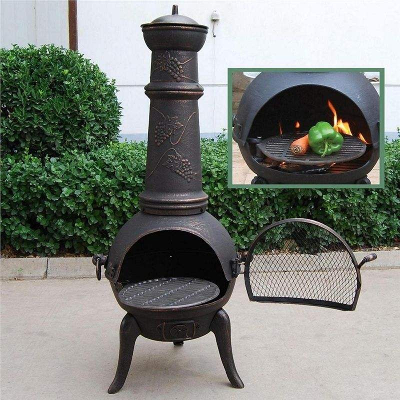 Popular outdoor chiminea cast iron