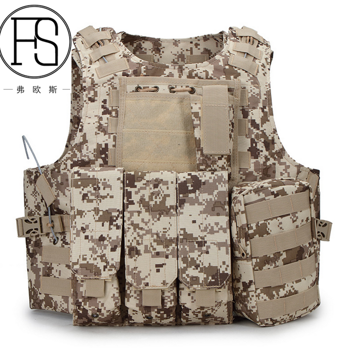 Fashion Tactical Combat Multi-function Military Molle Equipment Vest for Army Police Airsoft Paintball