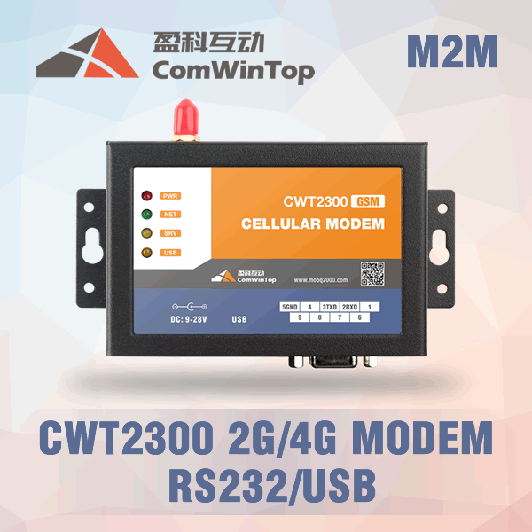 CWT2300 RS232 3g gsm 4g modem gprs, supporto comando at