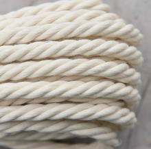 Wholesale twisted natural 10mm thick cotton rope macrame cord 10mm supplier