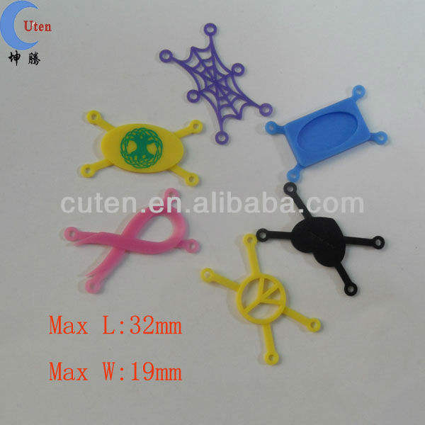 2013 new design cheap Spider shape cheap custom bracelet silicone part