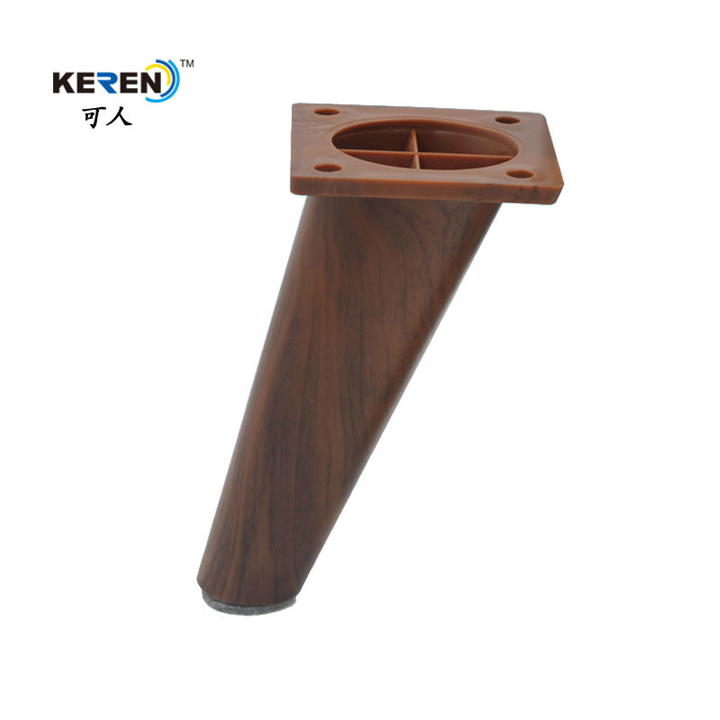 "6"" Angled Design Wood Finished Replacement Sofa Legs For Furniture"