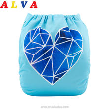 ALVABABY Washable Nappies Baby Reusable Cloth Diapers Baby Fit Nappies Baby Nappies Diapers