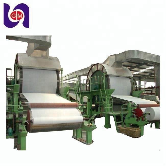 sugar cane bagasse paper, rice straw paper making machine for tissue paper production line