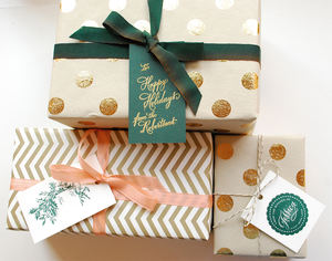 High Quality Low MOQ Custom Printed Gifts Wrapping Paper