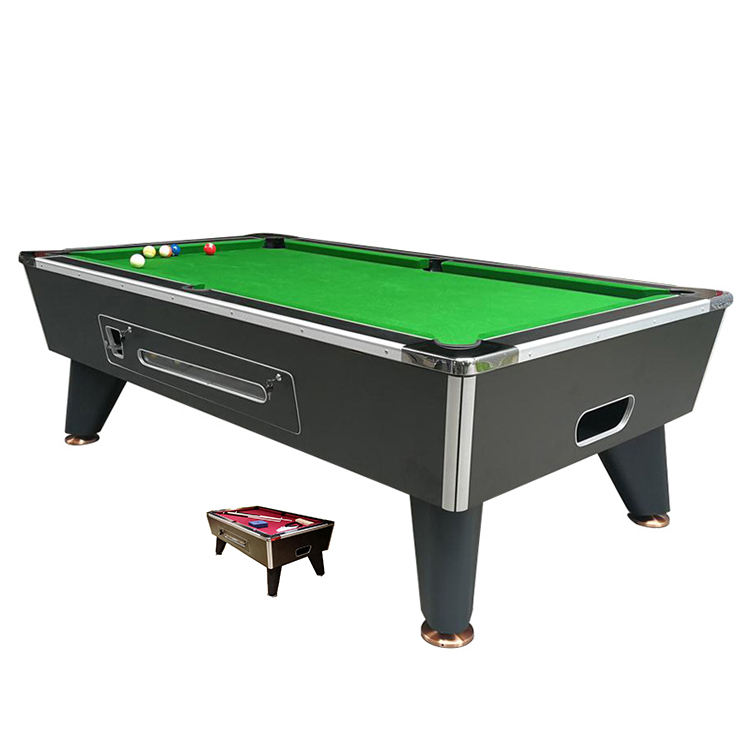 7ft Slate Bed Comercial <span class=keywords><strong>Pooltafel</strong></span> 8ft Houtnerf Muntautomaat <span class=keywords><strong>Pooltafel</strong></span>
