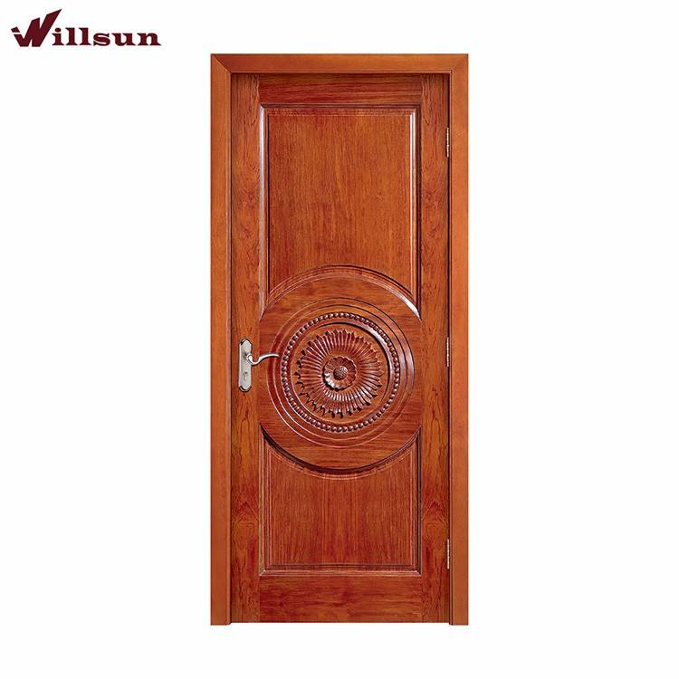 Attractive price meranti solid wooden carving door Malaysia