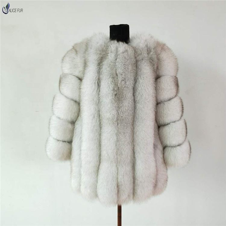 ALICEFUR Factory wholesale supply fashion winter custom design real fox fur coat for women