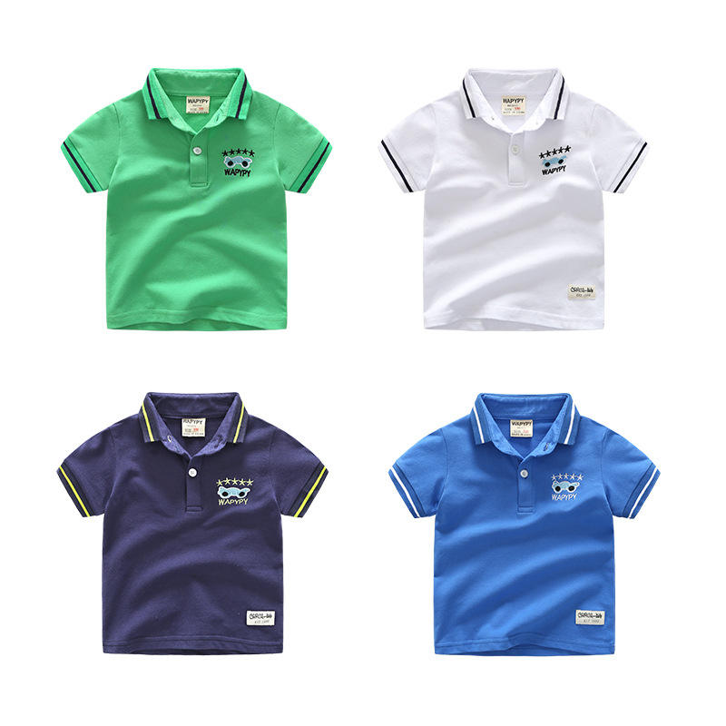 Bulk oem service blank children wholesale china boys kids short sleeve polo shirts for 2-6years