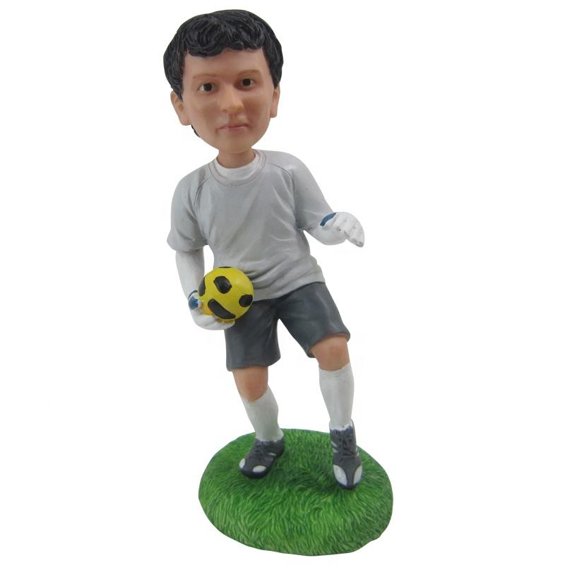 custom soccer player bobble head indian bobble head bodies base on photo for personalized birthday present wedding gift
