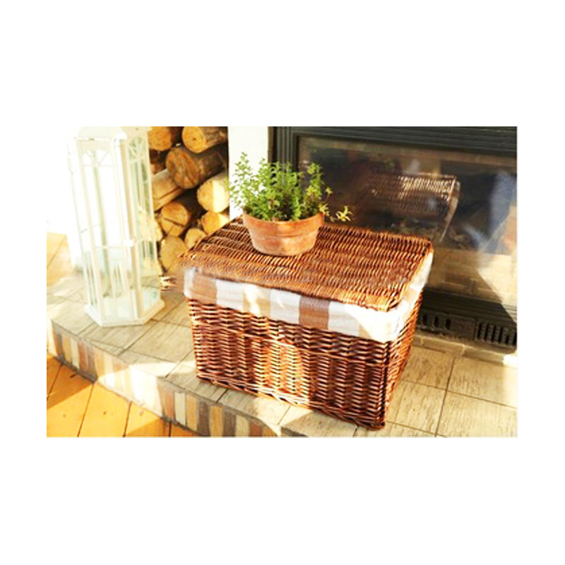 wholesale pop up wicker decorative trunk wicker dirty clothes storage chest hamper with lid