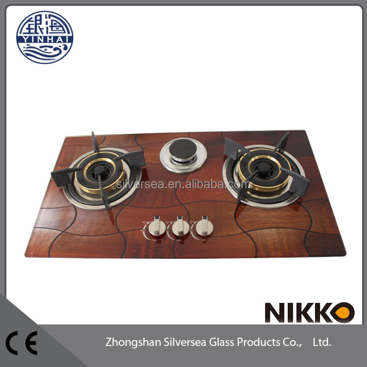 High quality tempered Glass 3 burner china gas hob,corner gas hob with safety device