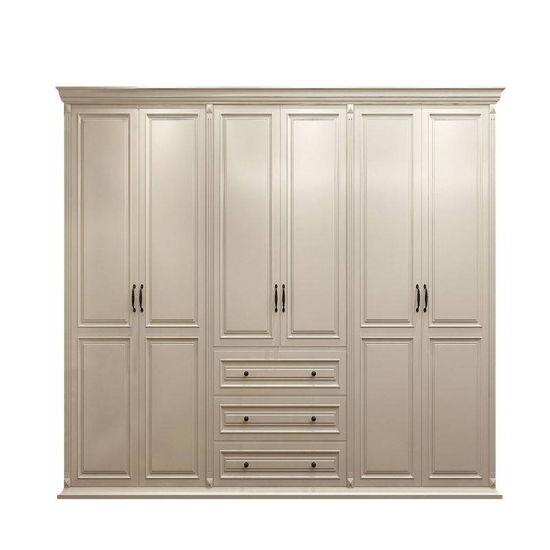 Fashion design custom made armoire solid wood wardrobe cabinet