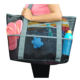 Summer Large Capacity Polyester Mesh Tote Beach Bag With Pocket