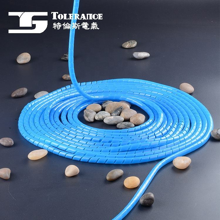 PE Colorful wire wrap spiral in cable sleeve wiring Cable Marker
