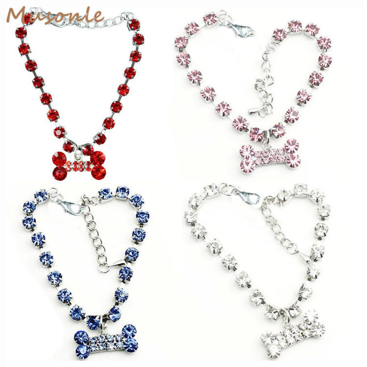 Fashionable pet dog accessory rhinestone necklace jewelry collar for cat