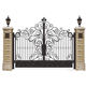 Best price latest modern stylish house iron main gate designs