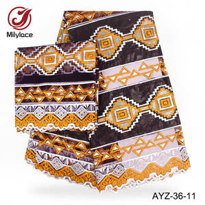 5 yards bazin + 2 yards broderie garniture dentelle africaine jacquard bazin riche tissu