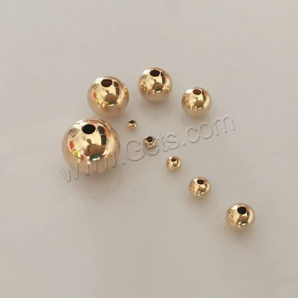 different size for choice bulk wholesale round shape 14k gold filled seamless beads